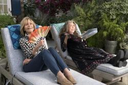 "Jane Fonda, left, and Lily Tomlin, right, in a scene from ""Grace and Frankie."""