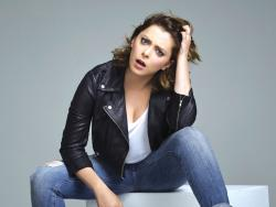 "Rachel Bloom in a promotional photo for ""Crazy Ex-Girlfriend."""
