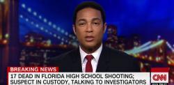 Don Lemon on CNN, February 14, 2018.