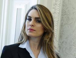 In this Feb. 9, 2018 photo, White House Communications Director Hope Hicks.
