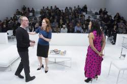 Daniel Gerroll, Patricia Kalember, and Karen Pittman in The White Card. Photo: Gretjen Helene Photography