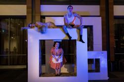 Margaret Clark, Michael Underhill, and Rebecca Schneebaum in 'The Hotel Nepenthe'