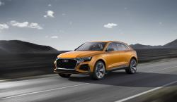 The undated image provided via the Audi MediaCenter shows Audi Q8 sport concept
