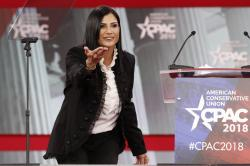 In this Feb. 22, 2018, photo, Dana Loesch, spokeswoman for the National Rifle Association, speaks at the Conservative Political Action Conference (CPAC), at National Harbor, Md.