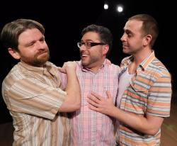 Alex Jacobs, Mikey DiLoreto,and Victor Shopov in Zeitgeist Stage Company's production of 'Steve,' running through March 2