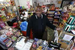 Carl Lewis in his Rankin, PA, market.