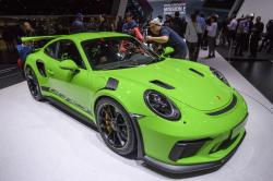 The New Porsche 911 GT3 RS is presented during the press day at the 88th Geneva International Motor Show in Geneva, Switzerland, Tuesday, March 6, 2018