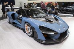 The New McLaren Senna is presented during the press day at the 88th Geneva International Motor Show in Geneva, Switzerland, Tuesday, March 6, 2018
