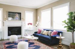A living room designed by interior designer Jessica McClendon.