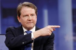 In this Feb. 22, 2018, file photo, White House counsel Don McGahn gestures while speaking at the Conservative Political Action Conference (CPAC), at National Harbor, Md.