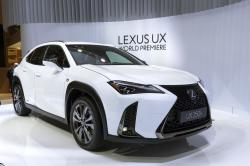 In this March 6, 2018, file photo the New Lexus UX is presented during the press day at the 88th Geneva International Motor Show in Geneva, Switzerland
