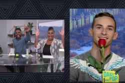 Justin Sylvester, left, interviews Adam Rippon, right, on E! News.