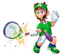 "Nintendo's Luigi in ""Mario Tennis Aces."""