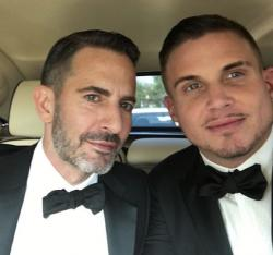 Marc Jacobs, left, with Charly Defrancesco