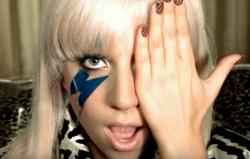 "Lady Gaga in the music video for ""Just Dance."""