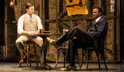 "Harry Connick Jr and J. Harrison Ghee in the musical adaptation of ""The Sting"" at the Papermill Playhouse through April 29."