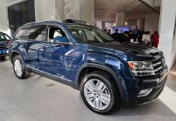 In this April 11, 2017, file photo, the 2018 Volkswagen Atlas sits on the showroom floor at the company's New York flagship store during a media preview for the New York International Auto Show in New York