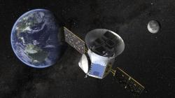 This image made available by NASA shows an illustration of the Transiting Exoplanet Survey Satellite (TESS)
