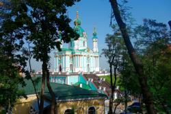 Saint Andrew's Church in Kiev, Ukraine.
