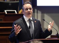 In this Jan. 16, 2018, file photo, Kentucky Gov. Matt Bevin