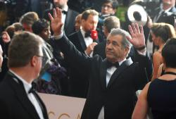 In this Sunday, Feb. 26, 2017 file photo, Mel Gibson arrives at the Oscars at the Dolby Theatre in Los Angeles.