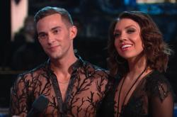 "Adam Rippon and Jenna Johnson on ""Dancing with the Stars."""