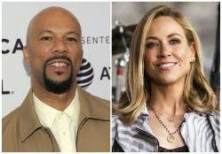 Common, left, and Sheryl Crow