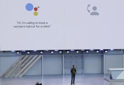 Google CEO Sundar Pichai speaks at the Google I/O conference in Mountain View, Calif., Tuesday, May 8, 2018