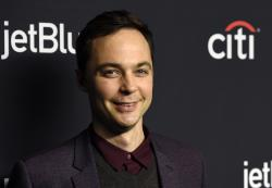 "In this March 21, 2018 file photo, Jim Parsons, a cast member in the television series ""The Big Bang Theory,"" poses during the 35th Annual PaleyFest at the Dolby Theatre in Los Angeles."