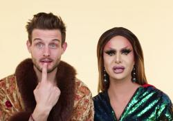 Nico Tortorella, left, with Trinity Taylor