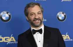 In this Feb. 3, 2018 file photo, Judd Apatow arrives at the 70th annual Directors Guild of America Awards in Beverly Hills, Calif.