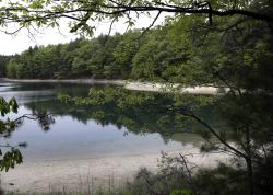 This May 23, 2017, file photo shows a view of Walden Pond in Concord, Mass., where the 19th century American philosopher and naturalist Henry David Thoreau spent two years in solitude and reflection.