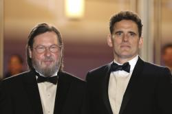 Director Lars von Trier, left, and actor Matt Dillon pose for photographers upon arrival at the premiere of the film 'The House That Jack Built' at the 71st international film festival, Cannes.