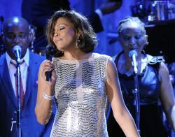 Whitney Houston performs in 2011.