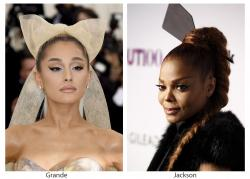 Ariana Grande, left, and Janet Jackson, right.
