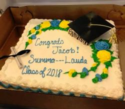 A photo of a graduation cake from Publix by Cara Koscinski.