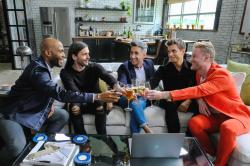 "The Fab Five on ""Queer Eye."" From left to right: Karamo Brown, Jonathan Van Ness, Tan France, Antoni Porowski and, Bobby Berk."