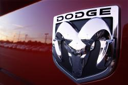 This Aug. 15, 2010 file photo shows a Dodge Ram logo at a dealership in Springfield, Ill.