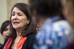 Rep. Diana DeGette, D-Colo. speaks during a news conference discussing women's health care on Capitol Hill in Washington.