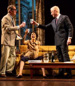 Josh Stamberg, Joanne Kelly, and John Hickok in 'Fall'