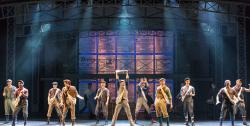 "The ensemble of ""Newsies"" at the La Mirada Theatre through June 24."