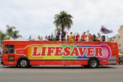 AHF's Lifesaver Bus.