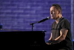 Bruce Springsteen performs at the 72nd annual Tony Awards.