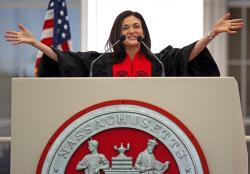 Sheryl Sandberg speaks during the MIT's 2018 Commencement exercises, Friday, June 8, 2018 in Cambridge, Mass.