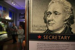 "Alexander Hamilton exhibit called ""Alexander Hamilton: Soldier, Secretary, Icon."""