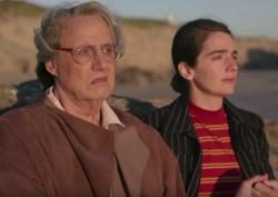 "Jeffrey Tambor, left, and co-star Gaby Hoffmann, right, appear in the ""Transparent"" Season 4 trailer."