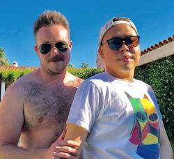 "Zeke Smith, left, with ""Superstore"" actor Nico Santos."