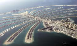 In this May 3, 2007 file photo, Jumeira Palm Island is seen from a helicopter.
