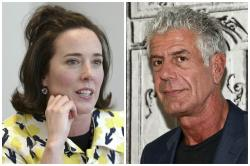 Kate Spade, left, and Anthony Bourdain.