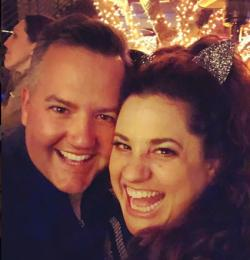 Ross Mathews, left, with Marissa Jaret Winokur.